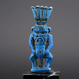 A large Egyptian Faience Amulet of Bes, 21st Dynasty, ca. 1069 - 945 BC - Sands of Time Ancient Art