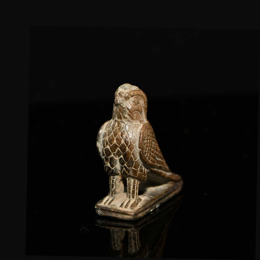 * A fine Egyptian Steatite Statuette of a Falcon, 26th Dynasty, ca 664 - 525 BCE