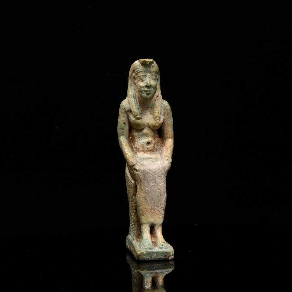 * A large Egyptian Faience Amulet of Isis/Nephthys, Late Period, ca. 6634 - 332 BCE