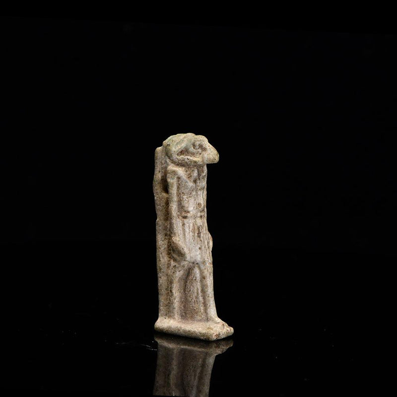 An Egyptian Faience Amulet of Khnum, Late Period, ca. 664 - 332 BCE