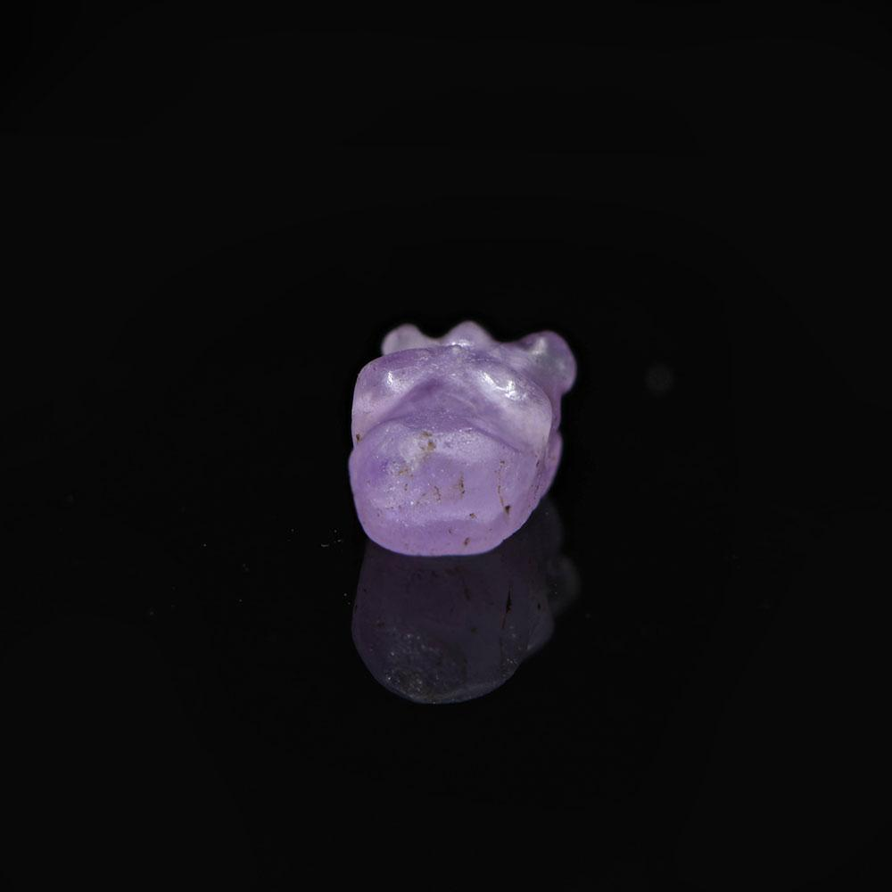 * An Egyptian Amethyst Hippopotamus Head Amulet, Middle Kingdom, ca. 2017 - 1730 BCE