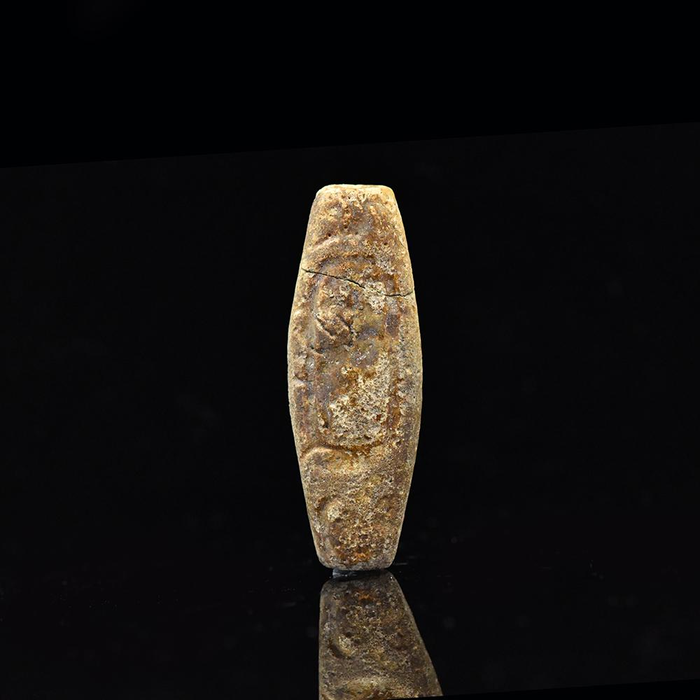 * An Egyptian Faience Royal Name Bead for Shabaka, 25th Dynasty, ca. 705 - 690 BCE