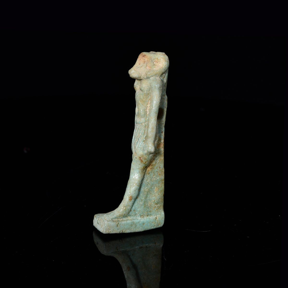 * An Egyptian Faience Amulet of Khnum, Late Period, ca 664 - 332 BCE