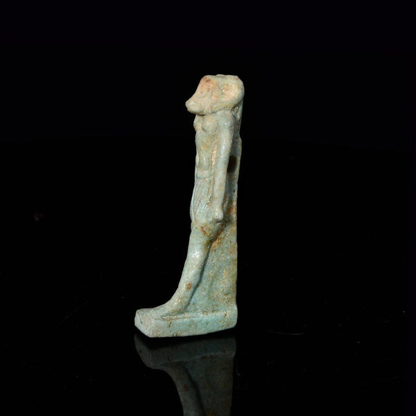 An Egyptian Faience Amulet of Khnum, Late Period, ca 664 - 332 BCE