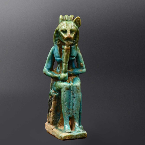 An Egyptian Faience Amulet of Sekhmet, Ptolemaic Period, ca. 300 - 30 BCE