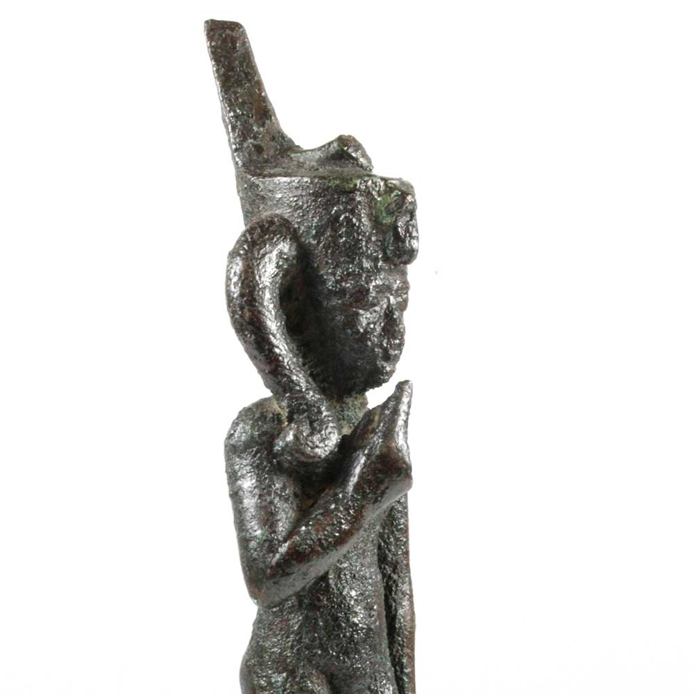 An Egyptian Bronze Figure of Harpokrates, Late Period ca. 664 - 552 BCE - Sands of Time Ancient Art