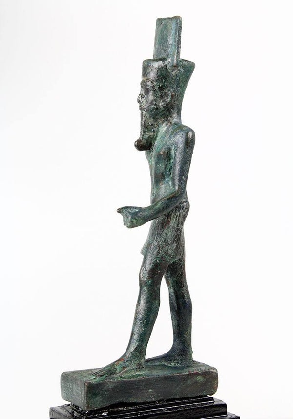 An Egyptian Bronze Figure of Amun, Late Period, ca 664-332 BC - Sands of Time Ancient Art