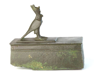 An Egyptian Bronze Horus Falcon Sarcophagus, 26th Dynasty, ca. 646-525 BC - Sands of Time Ancient Art