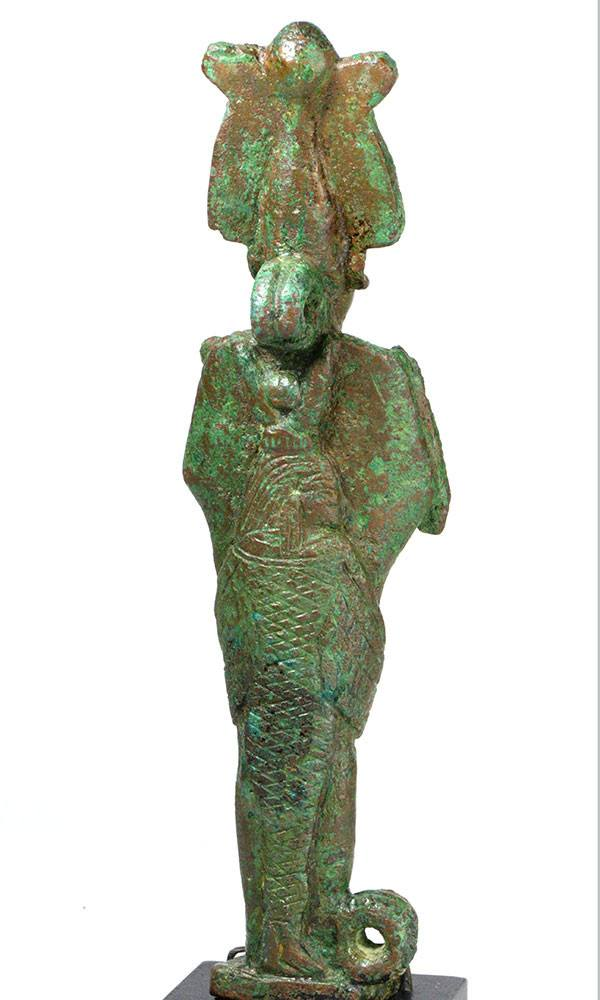 A rare Egyptian Bronze Osiris and Isis, 26th Dynasty, ca 664 - 525 BC - Sands of Time Ancient Art