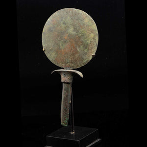 An Egyptian Bronze Toilet Mirror, 18th Dynasty, ca.1539 - 1292 BCE - Sands of Time Ancient Art