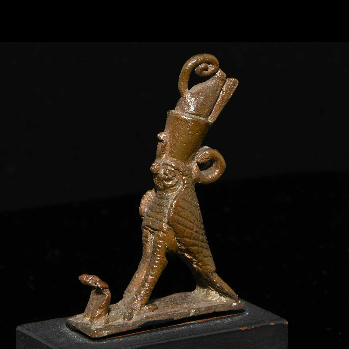 An Egyptian Bronze Amulet of a Horus Falcon, Late Period, ca 664 - 332 BCE - Sands of Time Ancient Art