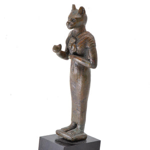 * An Egyptian Bronze Figure of Bastet, 21st Dynasty, ca. 1069 - 945 BC - Sands of Time Ancient Art