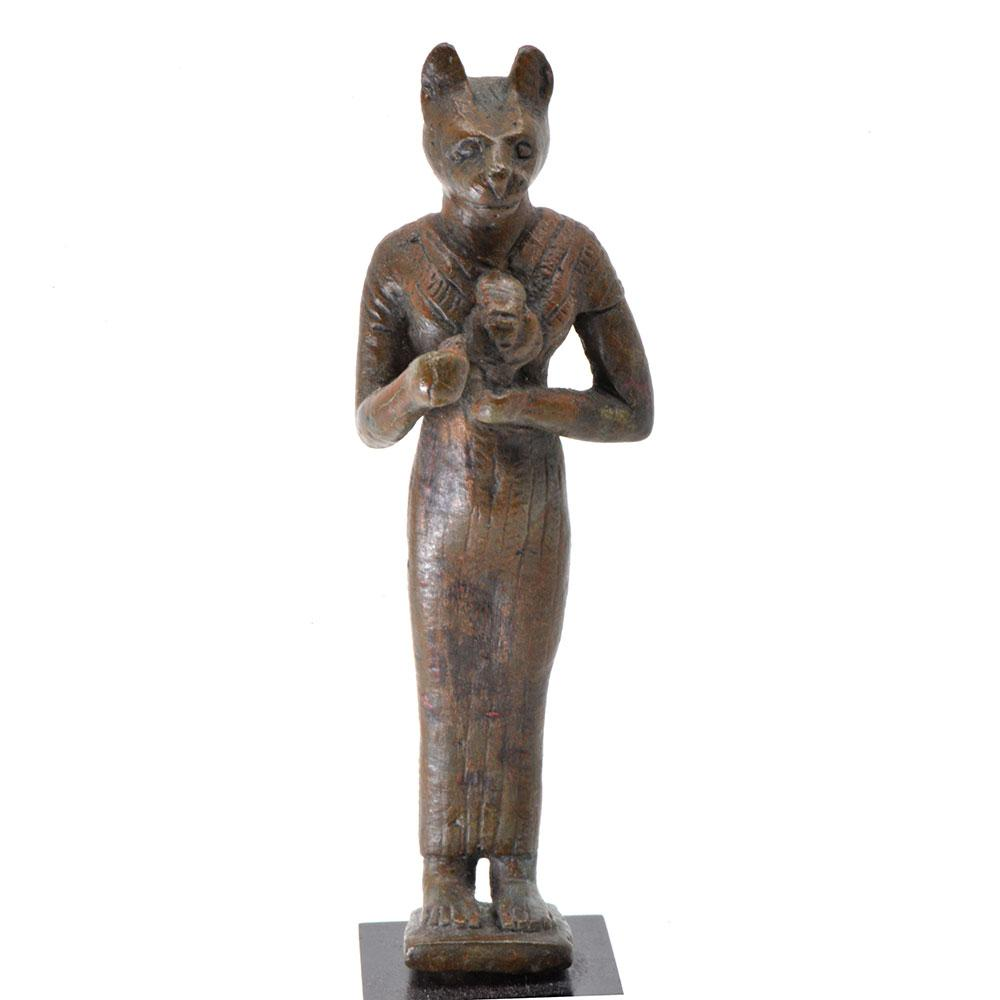 An Egyptian Bronze Figure of Bastet, 21st Dynasty, ca. 1069 - 945 BCE - Sands of Time Ancient Art