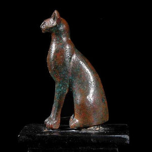* An Egyptian Bronze figure of a Cat, 19th Dynasty, ca. 1295 -1069 BC - Sands of Time Ancient Art