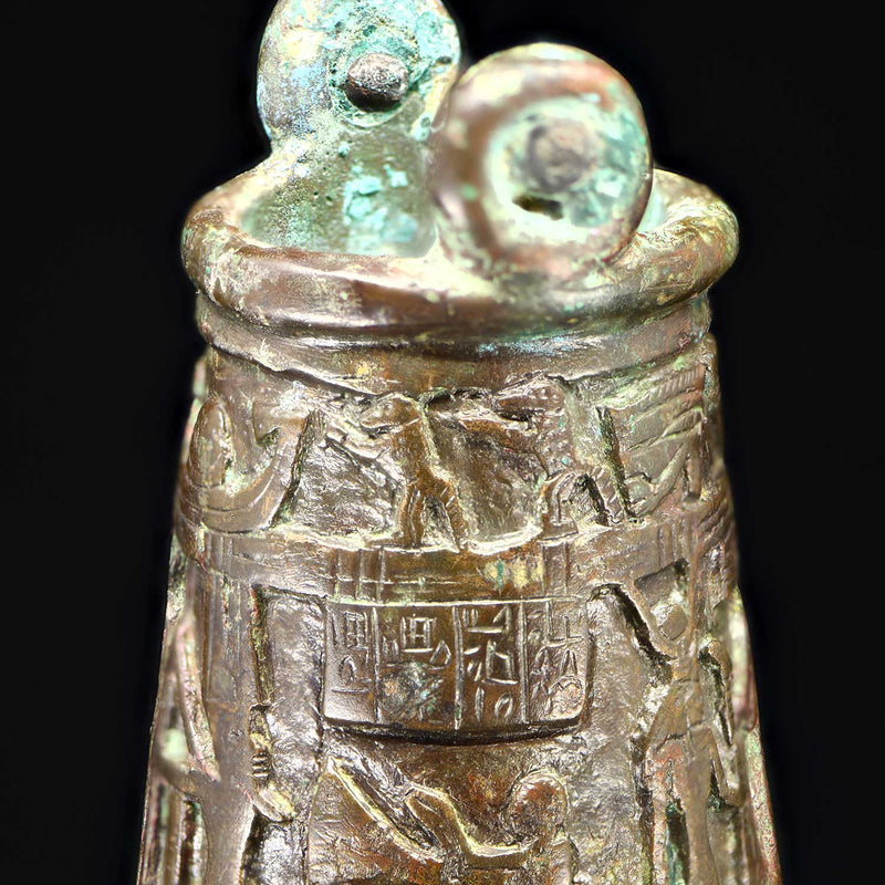 An Egyptian Bronze Situla, 26th Dynasty, ca. 664 - 525 BCE - Sands of Time Ancient Art