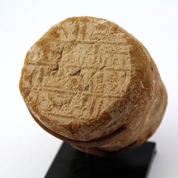 An Egyptian Funerary Cone for the count of the city, Basa, 26th Dynasty, ca. 664-525 BC