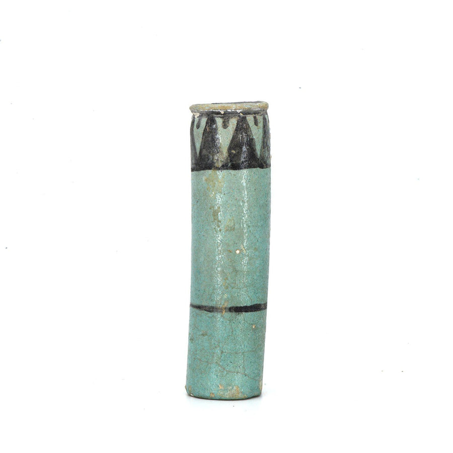 An Egyptian Faience Kohl Cylinder, 18th Dynasty, ca. 1550 - 1295 BCE - Sands of Time Ancient Art