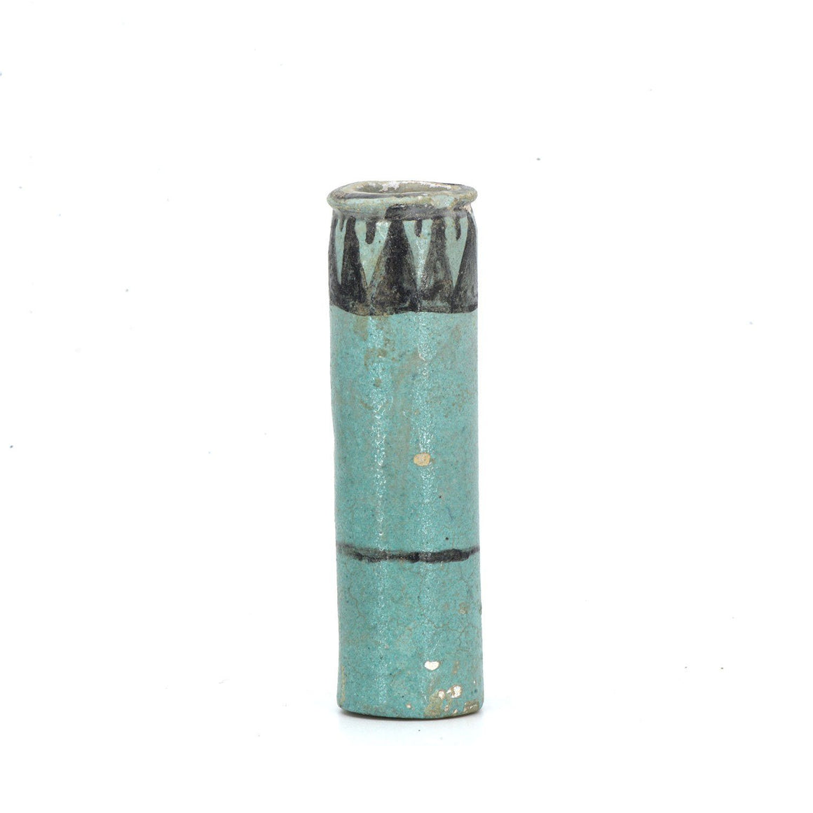 * An Egyptian Faience Kohl Cylinder, 18th Dynasty, ca. 1550 - 1295 BC - Sands of Time Ancient Art