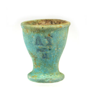 An Egyptian Blue-glazed Oil Cup, Dynasty 26, ca. 664-525 BCE - Sands of Time Ancient Art