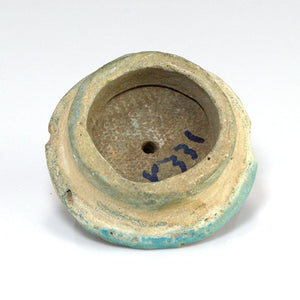 An Egyptian Faience Ear Spool, 18th Dynasty, Amarna Period, ca 1352-1336 BCE - Sands of Time Ancient Art
