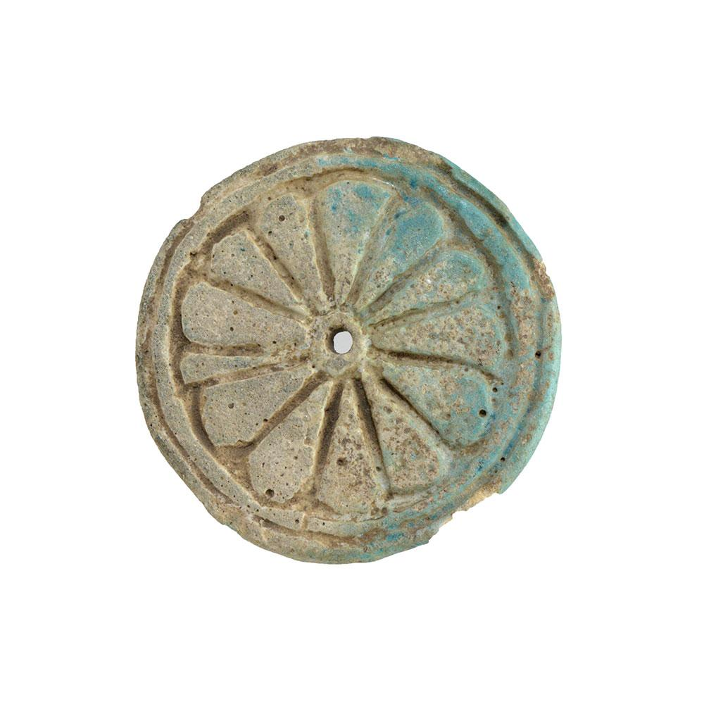 * An Egyptian Faience Ear Spool, 18th Dynasty, Amarna Period, ca 1352-1336 BC