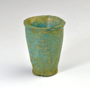 An Egyptian Blue-Green Faience Offering Cup for Seti I, New Kingdom, ca. 1550 - 1069 B.C. - Sands of Time Ancient Art