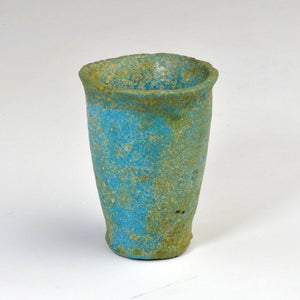 An Egyptian Blue-Green Faience Offering Cup for Seti I, New Kingdom, ca. 1550 - 1069 BCE - Sands of Time Ancient Art
