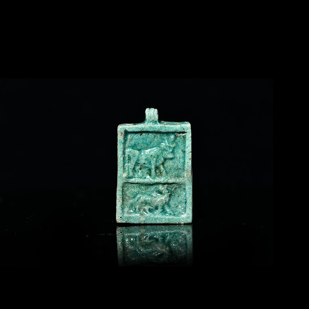 * An Egyptian Faience Plaque, 26th Dynasty, ca. 664 - 525 BC - Sands of Time Ancient Art