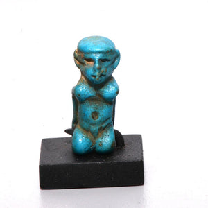 A Rare Egyptian Faience Game Piece of a Captive, 18th Dynasty, ca. 1550-1295 BC - Sands of Time Ancient Art