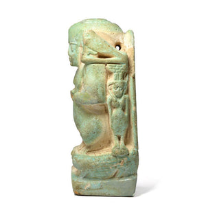 An Egyptian Faience Cippus, Late Period ca. 664-332 BCE - Sands of Time Ancient Art