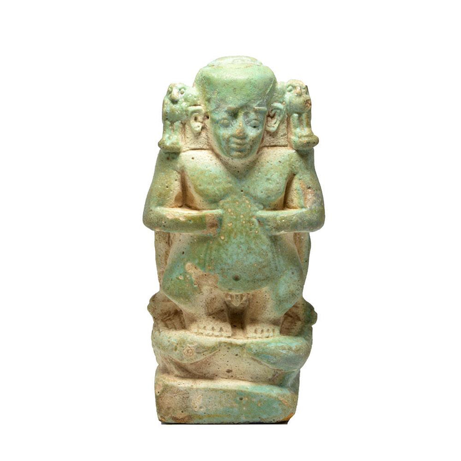 * An Egyptian Faience Cippus, Late Period ca. 664-332 BC