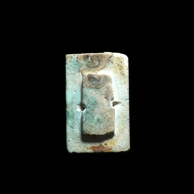 An Egyptian Blue Glazed Pyramid Tile, Old Kingdom, time of Djoser, ca. 2668 - 2649 BCE