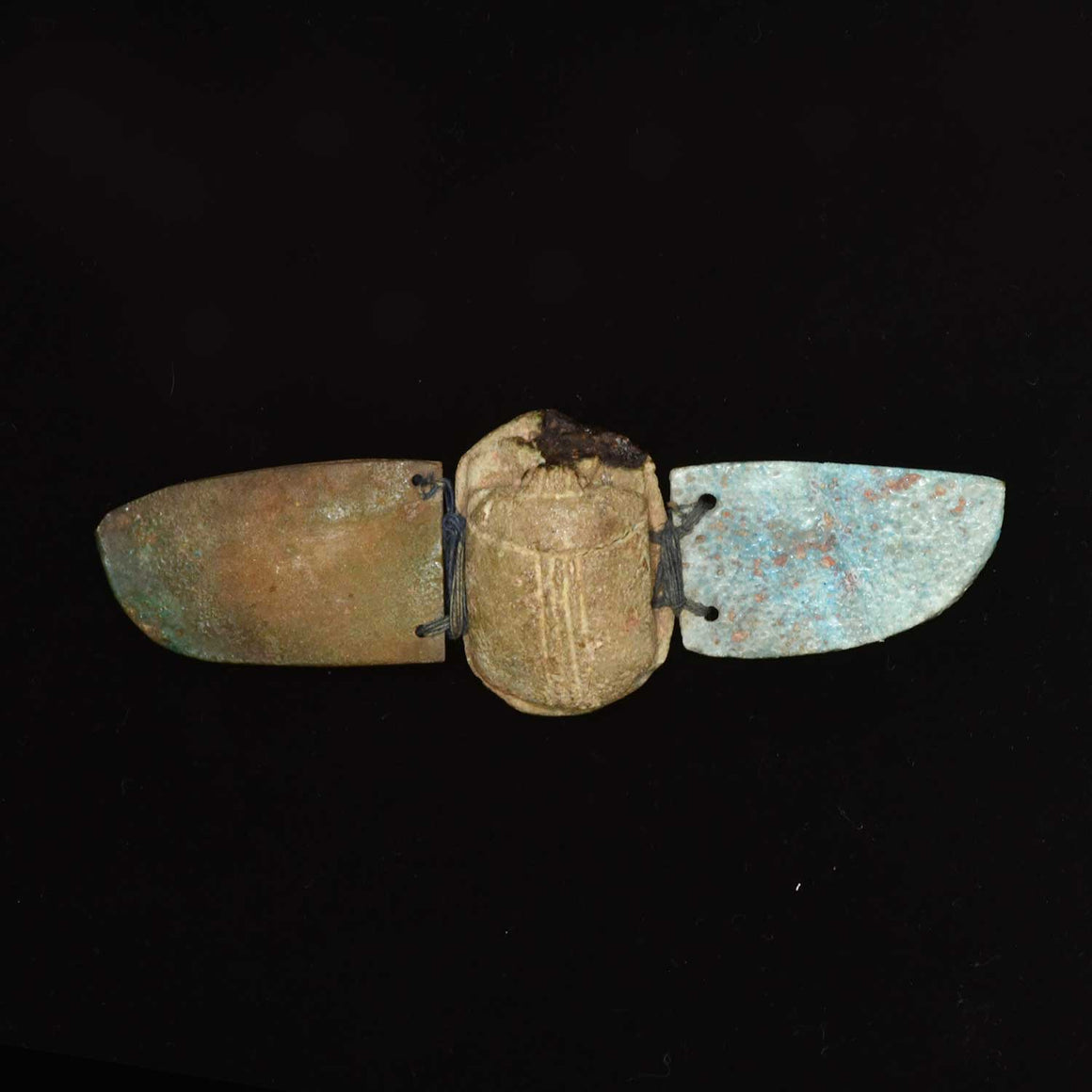 An Egyptian Faience Winged Scarab, Late Period ca 664-332BC - Sands of Time Ancient Art