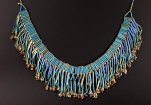 An Egyptian Broad Collar Faience Necklace, Late Period, ca. 664-332 BCE - Sands of Time Ancient Art