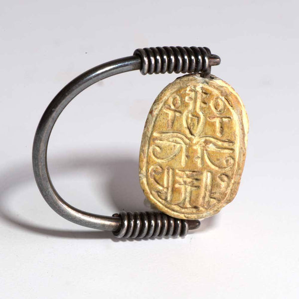 An Egyptian Steatite Design Scarab, Late 2IP - 18th Dynasty, ca 1720-1295 BC
