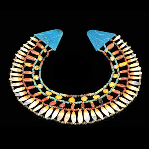 An Egyptian Floral Broad collar Necklace, Amarna Period, ca. 1352-1336 BCE - Sands of Time Ancient Art