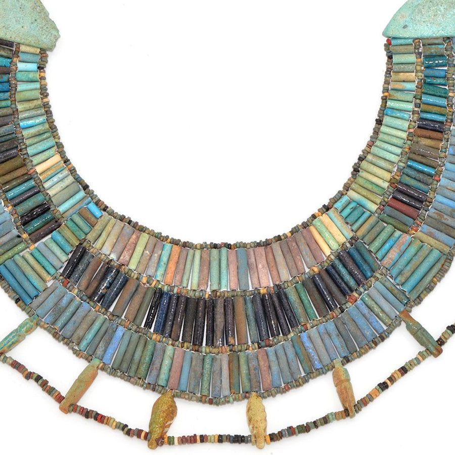 * A rare Egyptian Faience Broad Collar Necklace, Late Old Kingdom, ca 2345–2181 BC