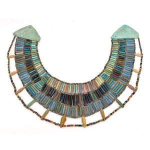 A rare Egyptian Faience Broad Collar Necklace, Late Old Kingdom, ca. 2345–2181 BCE - Sands of Time Ancient Art