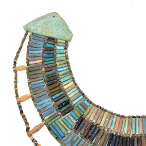 * A rare Egyptian Faience Broad Collar Necklace, Late Old Kingdom, ca. 2345–2181 BC - Sands of Time Ancient Art