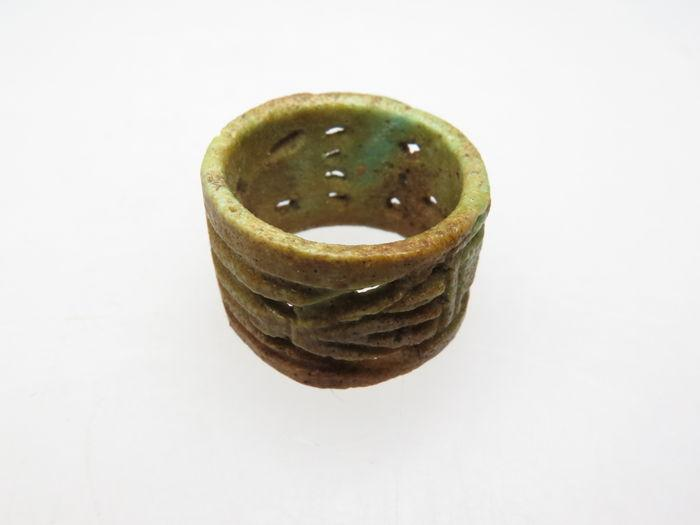 An Egyptian Faience Openwork Ring, 21st Dynasty, ca. 1069-945 BCE - Sands of Time Ancient Art