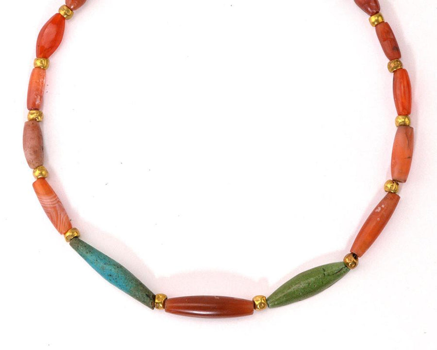 An Egyptian Faience and Carnelian Bead Necklace, Middle Kingdom, ca. 2030-1640 BC