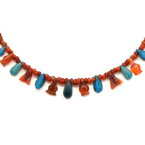 * An Egyptian Carnelian and Faience Bead and Pendant Necklace, New Kingdom, ca 1550 - 1069 BC - Sands of Time Ancient Art