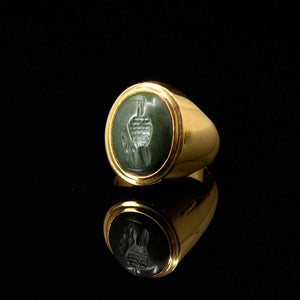 * An Egypto-Roman Green Jasper Intaglio ringstone, Ptolemaic - Roman Period, ca. 1st century BCE/CE - Sands of Time Ancient Art