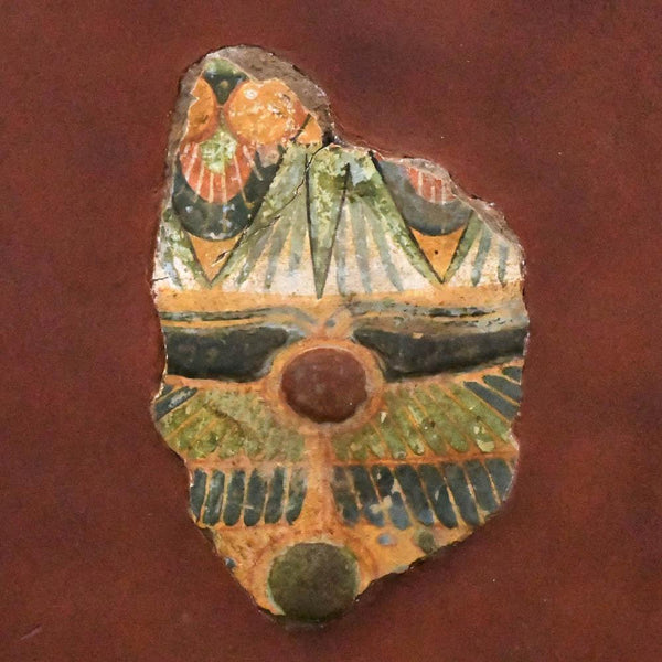 An Egyptian Polychrome Sarcophagus Fragment, Third Intermediate Period, ca. 1069 - 712 BCE