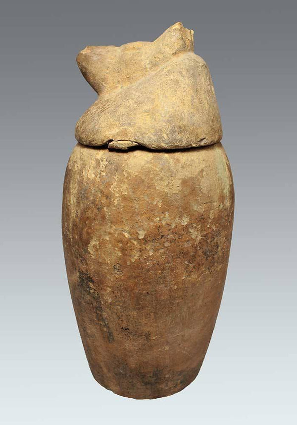 A Large Egyptian Canopic Jar, 18th Dynasty, ca 1550-1295 BC - Sands of Time Ancient Art
