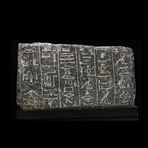 * An Egyptian Granite Relief Fragment for the King's Scribe, Paser II, 19th Dynasty, Reign of Ramesses II, ca 1279 - 1213 BC - Sands of Time Ancient Art