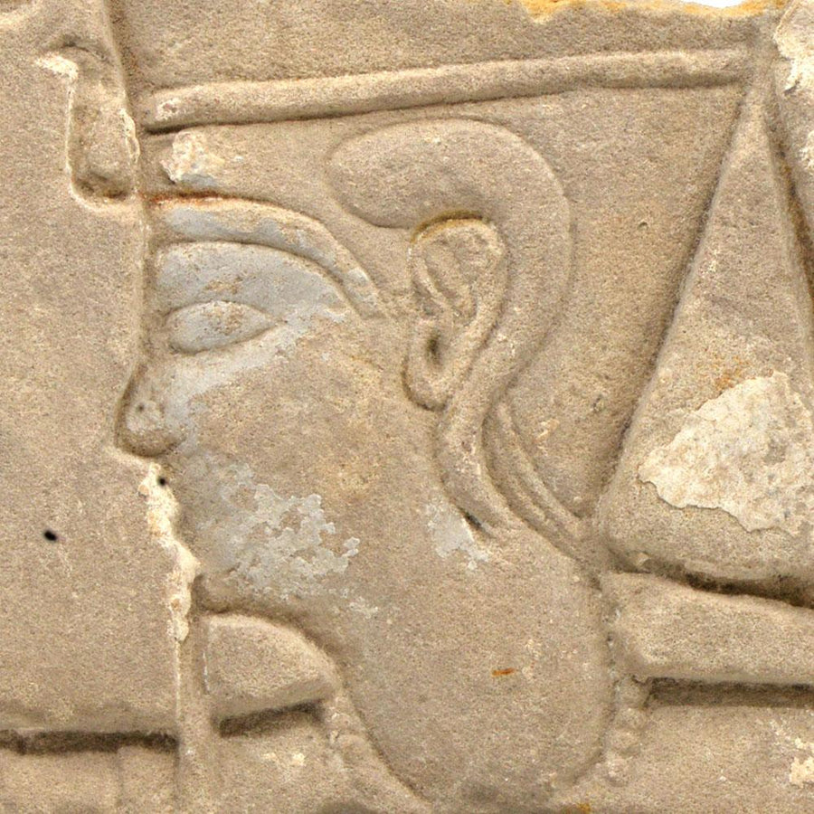 * An Egyptian Royal Relief Fragment of a Pharaoh, Ptolemaic Period ca 332 - 30 BC - Sands of Time Ancient Art