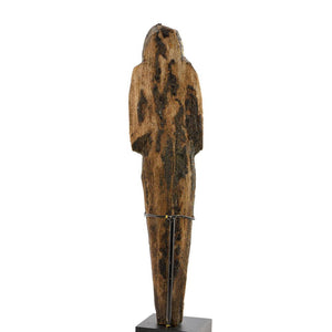 A large Egyptian Wood and Resin Shabti, 20th Dynasty, ca. 1187-1069 BCE - Sands of Time Ancient Art