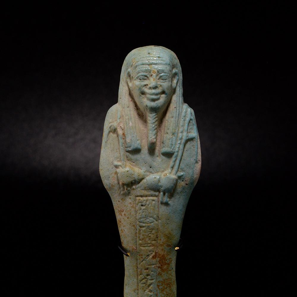 An Egyptian Ushabti for the Overseer of the army Horkhebi, 26th Dynasty ca. 664 -525 BCE - Sands of Time Ancient Art