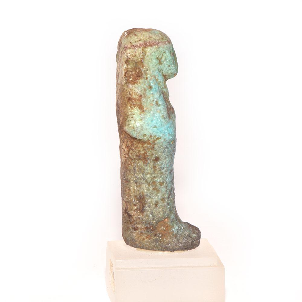 An Egyptian Blue Glazed Faience Shabti, Third Intermediate Period, ca. 1069-945 BCE - Sands of Time Ancient Art